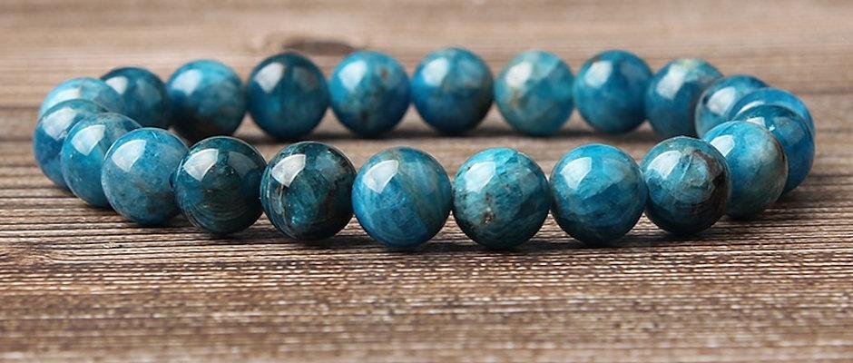 Natural Apatite | Stone of Manifestation, Intention Bracelet/Calming