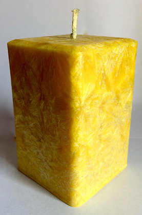Yellow ECO Candle 3x3x3.5