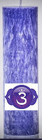 "ECO Palm Wax Candle - 6.5""x 2""- Crown Chakra - Violet"