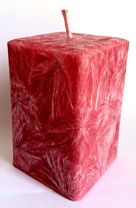Red ECO Candle 3x3x3.5