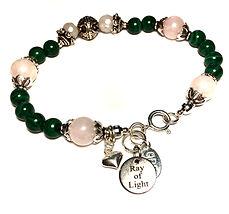 malachite , rose quartz healing bracelet,ray of light jewels.JPG