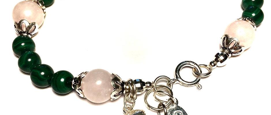 Natural Malachite   Genuine Malachite Stone of Manifestation Bracelet