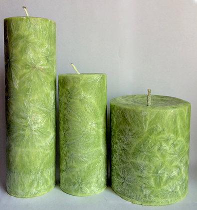 3x Lemon Green ECO Candles
