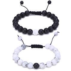white howlite,heaking, joga, essential oil bracelet, energy, lava, howalithe.jpg