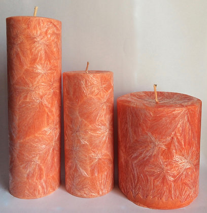 3x Peach ECO Candles