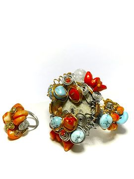 coral, turqoise bracelet.JPG