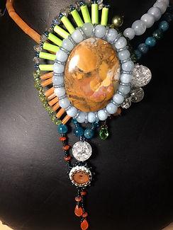 amazonite,crystal necklace, energy, healing necklace.JPG