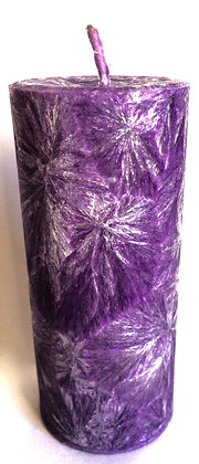 Purple ECO Candle 2x4.5