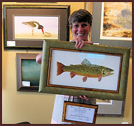Framed Brook Trout Donated.jpg