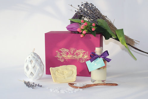 Osterbox Provence mit Prozellanei