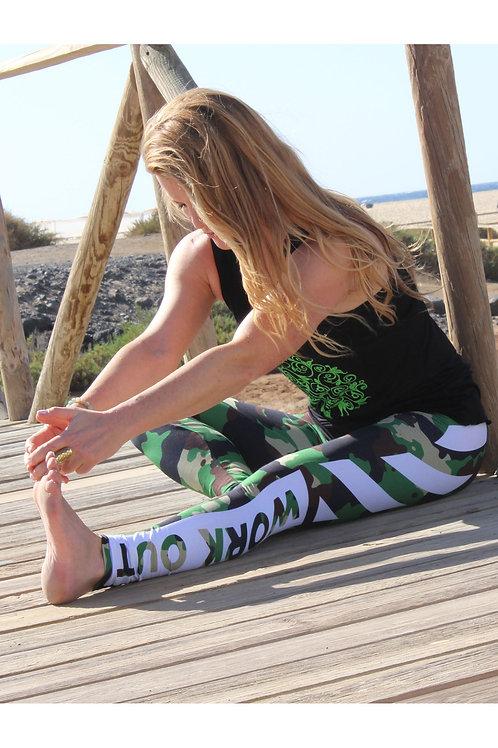 Yogaleggings Camou