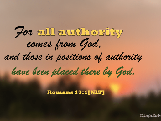 WHY RESPECT & OBEY AUTHORITY?