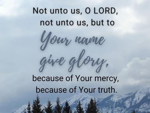 Glorify GOD!