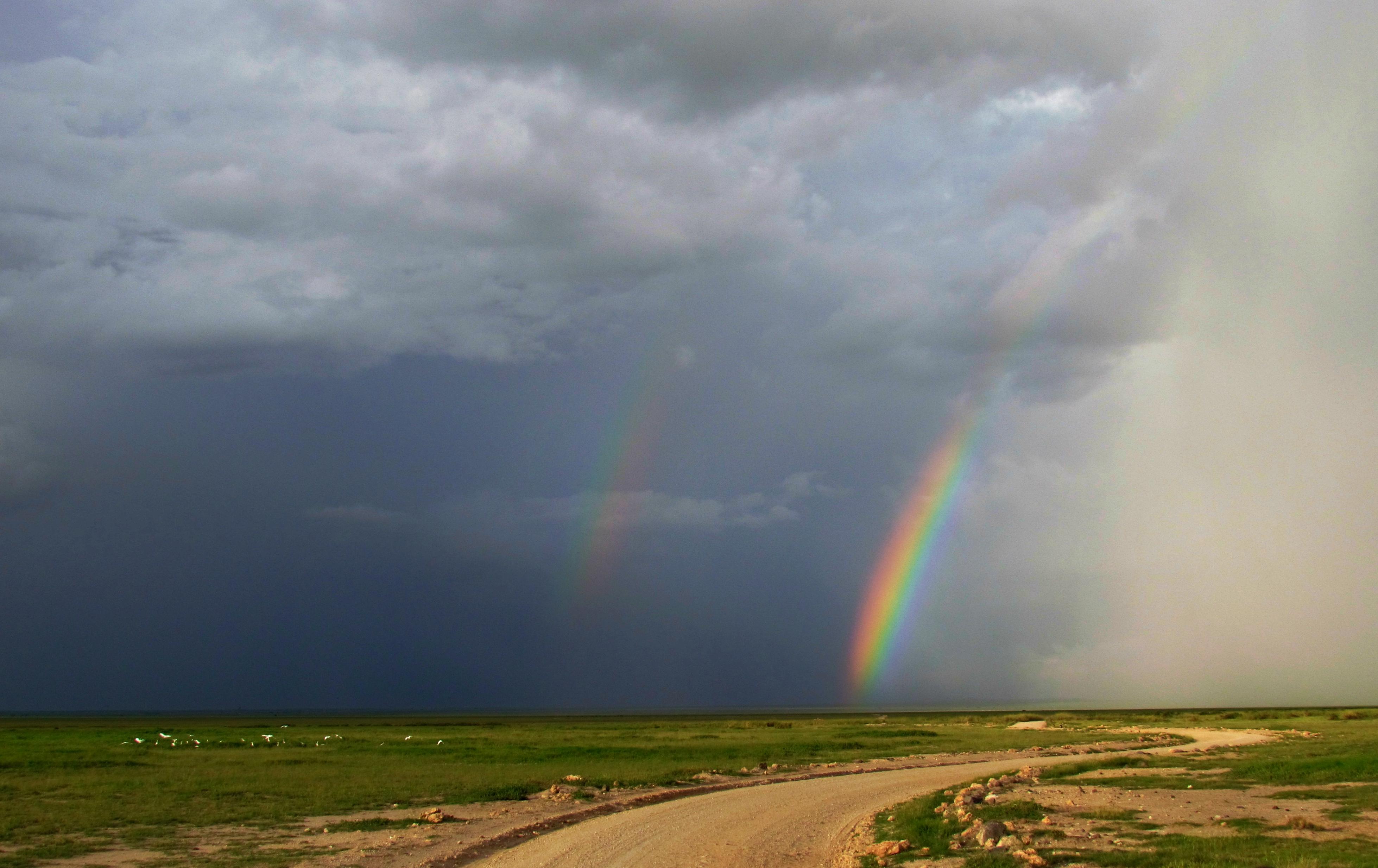 double rainbow Amboseli