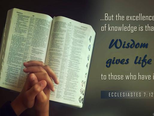 Growing in Godly Wisdom