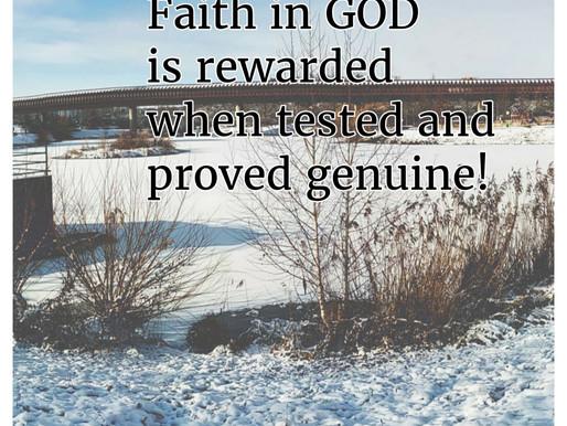 FAITH: TESTED AND REWARDED