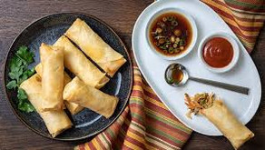 SPRING ROLLS VEGETABLE WITH SWEET POTATO