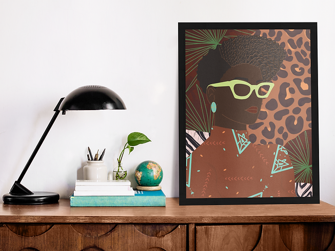 Marlo Animal mockup-template-of-a-poster
