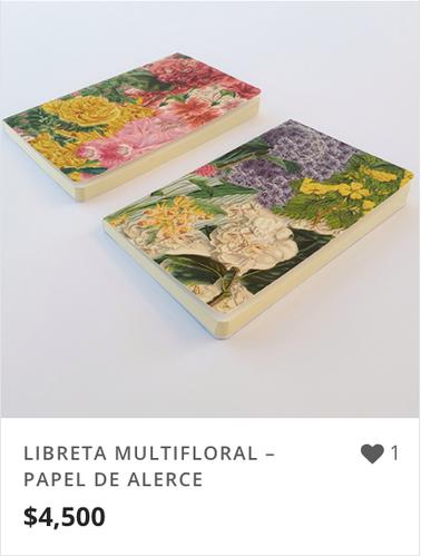 LIBRETA MULTIFLORAL – PAPEL DE ALERCE