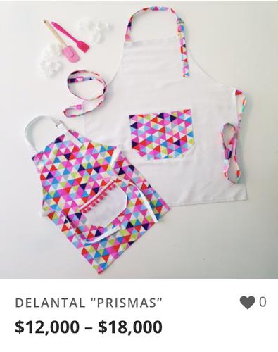 "DELANTAL ""PRISMAS"""