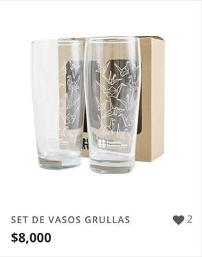 SET DE VASOS GRULLAS