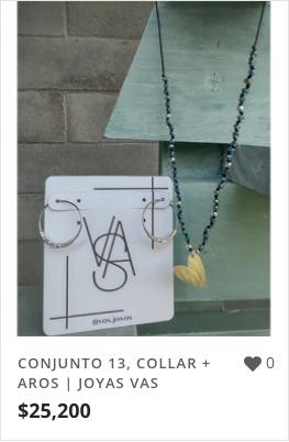 CONJUNTO 13, COLLAR + AROS | JOYAS VAS