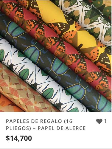 PAPELES DE REGALO DE ALERCE (16 PLIEGOS)