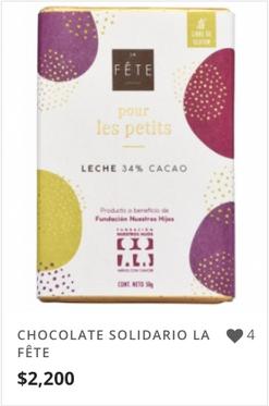 CHOCOLATE SOLIDARIO LA FÊTE