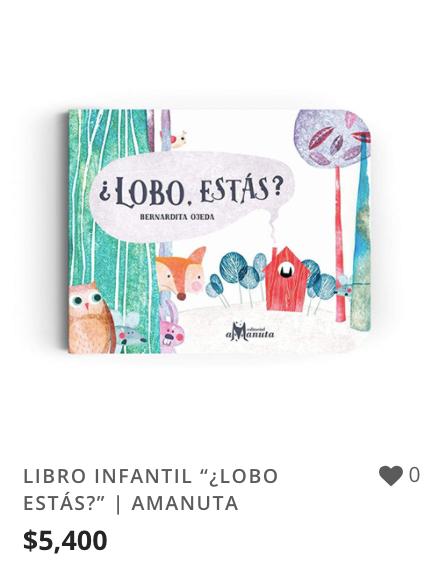 "LIBRO INFANTIL ""¿LOBO ESTÁS?"" | AMANUTA."