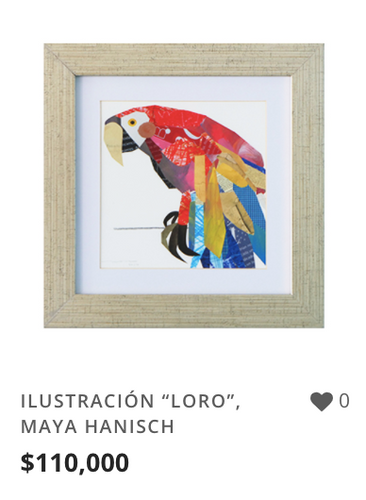 """OBRA ILUSTRACIÓN """"LORO"""""""