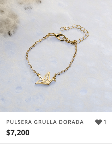 PULSERA GRULLA DORADA