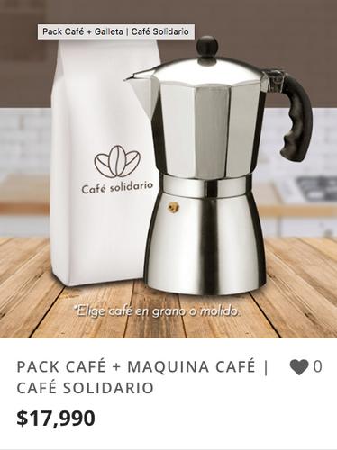 PACK CAFÉ + MAQUINA CAFÉ | CAFÉ SOLIDARI