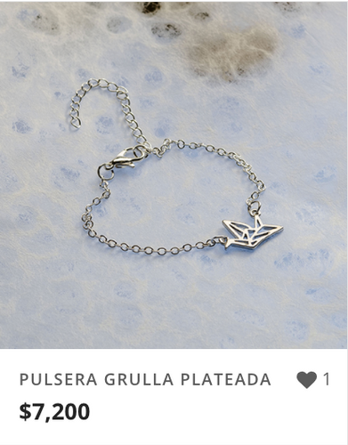 PULSERA GRULLA PLATEADA