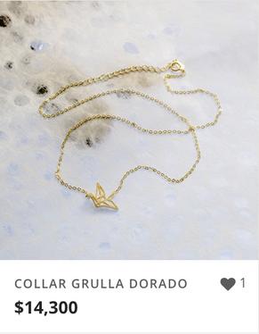 COLLAR GRULLA DORADO