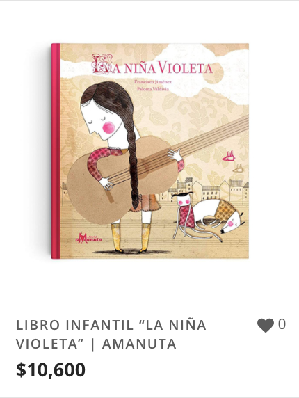 "LIBRO INFANTIL ""LA NIÑA VIOLETA"" | AMANU"