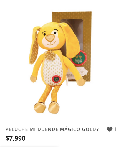 PELUCHE MI DUENDE MÁGICO GOLDY