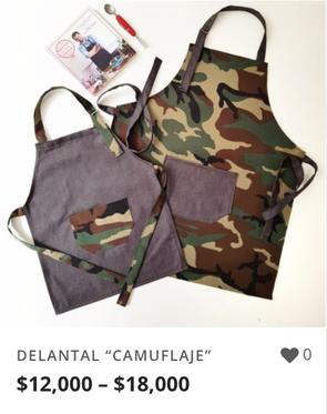 "DELANTAL ""CAMUFLAJE"""