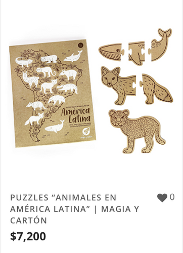 "PUZZLES ""ANIMALES EN AMÉRICA LATINA"" | M"