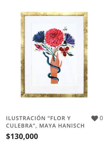 """OBRA ILUSTRACIÓN """"FLOR Y CULEBRA"""""""