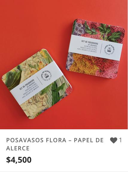 POSAVASOS FLORA – PAPEL DE ALERCE