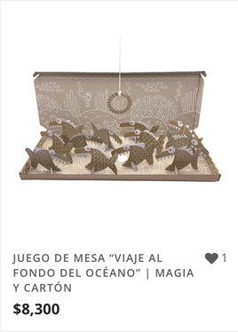 """JUEGO DE MESA """"VIAJE AL FONDO DEL OCÉANO"""