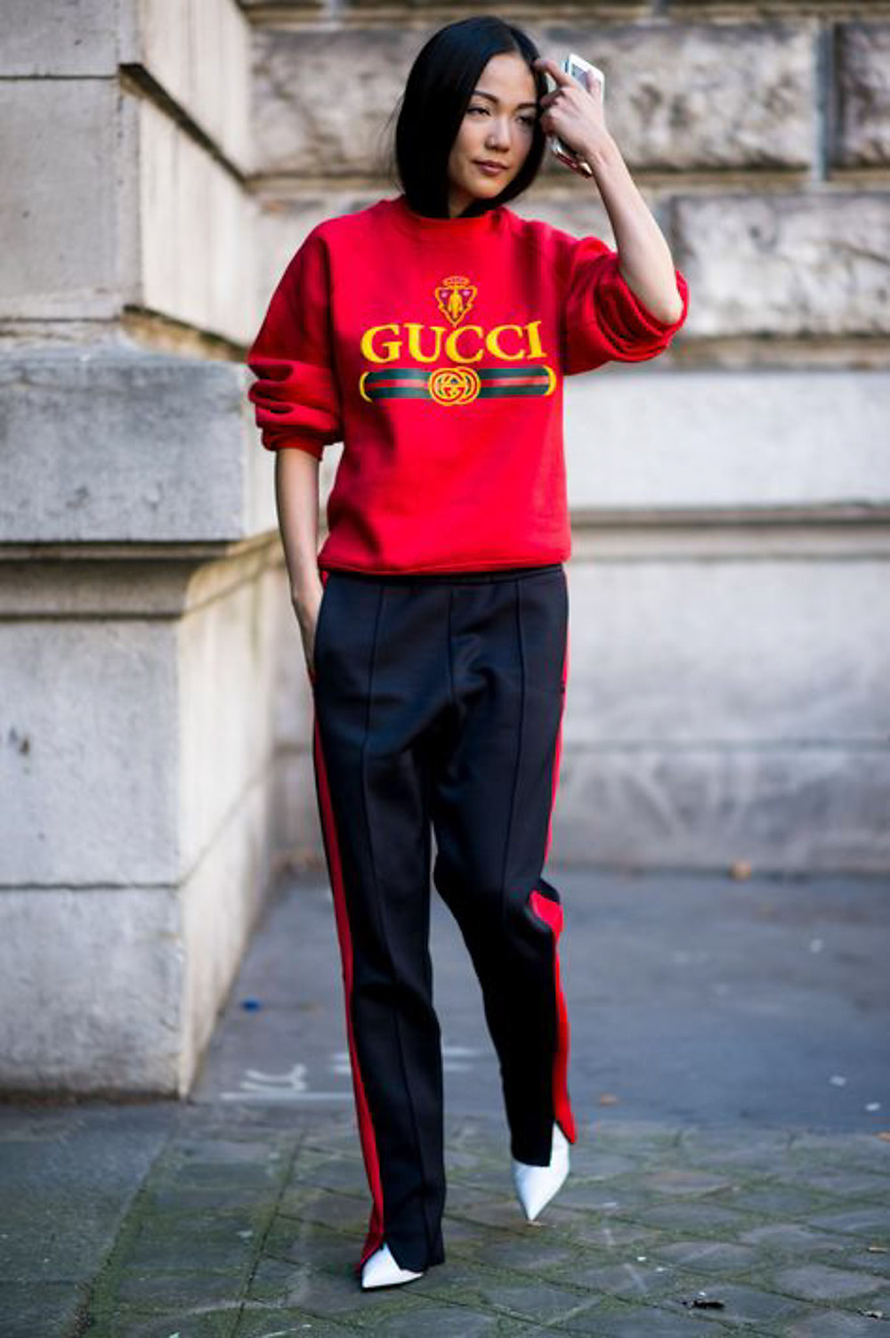 Roter Sweater Gucci Foto: Pinterest