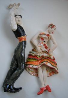 Hanging Flamenco Couple