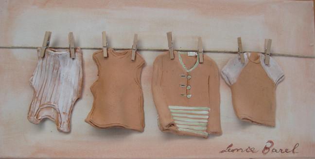 Desert clothes on canvas
