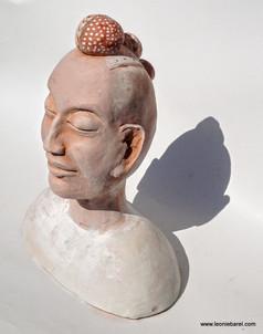 Tribal bust with head dress