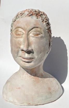 Stylized whitened bust