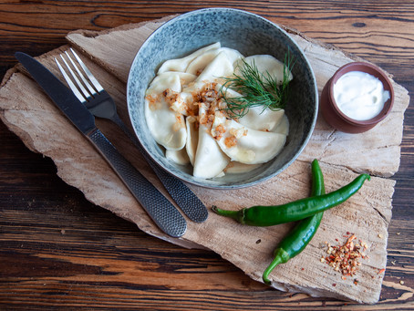 Delicious hot homemade dumplings, pelmeni and pancakes with home delivery!