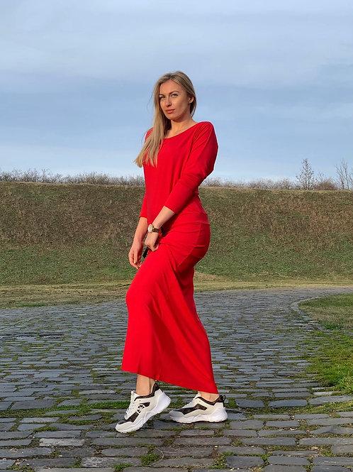 Šaty červené dlhé - Cherry