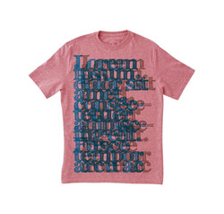 Cool Typography Pink T-Shirt