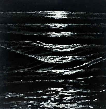 Reflections: Moonlight and Waves